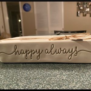BRAND NEW Mud Pie Happy Always Serving Dish
